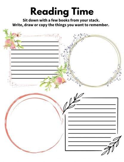 Homeschool Mom Journal Page Sample
